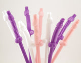 Giant Penis Straws in Pink, Purple and White- Ten per Pack