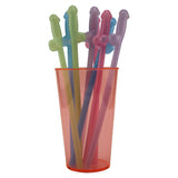 Glowing Penis Straws - 8 Straws