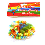 Rainbow Pecker Candy Necklace in Package