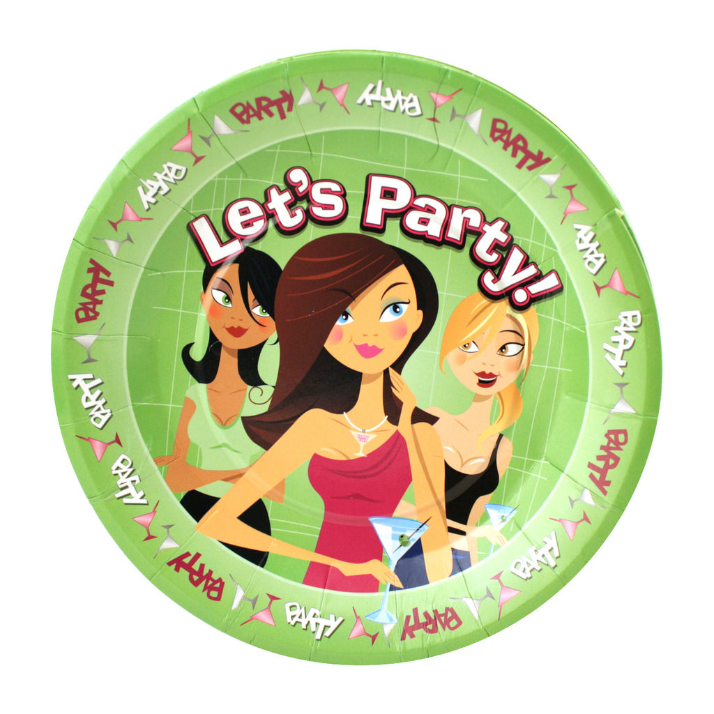 Let's Party Plates - For Any Girl's Night - 10