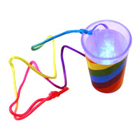 Light Up Rainbow Pecker Shot Glass Lighting Up