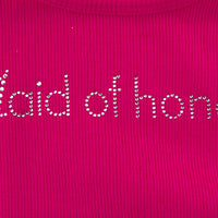 Maid of Honor Tank - Pink with Gemstones - Close Up