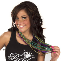 Mardi Gras Beads - One Dozen Strings