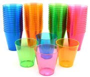 Neon Plastic Shot Cups - 2 oz. - Assorted Colors - 60 - Bachelorette.com Bachelorette Party Supplies