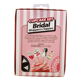 Bridal Cupcake Wrappers and Toppers Box Back