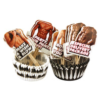 Hot Bod Cupcake Wrappers and Toppers - 24