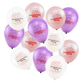 Pink and Purple Bachelorette Party Balloons - 12