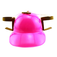 Pink Drinking Helmet - Holds Two Beers