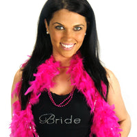 Feather Boa - Hot Pink - Close Up