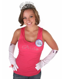 Bride Tank - Pink with Gemstones - Being Worn