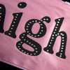 Girls Night Out Sash - Pale Pink - Black Gemstone Lettering