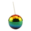 Rainbow Disco Ball Cup