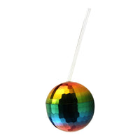 Rainbow Disco Ball Cup - Bachelorette.com Bachelorette Party Supplies