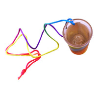 Light Up Rainbow Pecker Shot Glass Top View