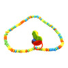Rainbow Pecker Candy Necklace - Lots of Small Candies and a Pecker Pop