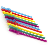 Penis Party Straws -  Five Different Colors