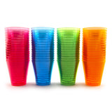 Neon Plastic Shot Cups - 2 oz. - In Four Colors