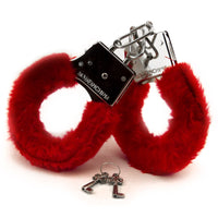 Furry Handcuffs - Red and Fuzzy