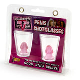 Pair Of Penis Shot Glasses - Front of Package