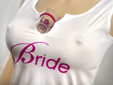 Bride's Shot Glass Tank Top - Shot Glasses Fit Perfectly