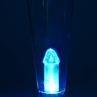 Flashing Penis Beer Glass Glowing Blue