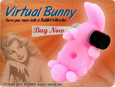 virtual bunny vibrating penis ring