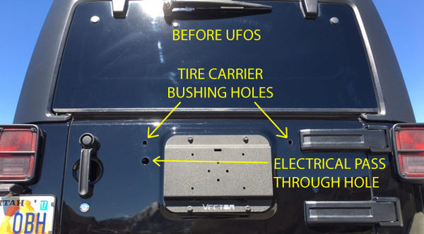 UFO, JK Tailgate Electrical Pass Through Delete