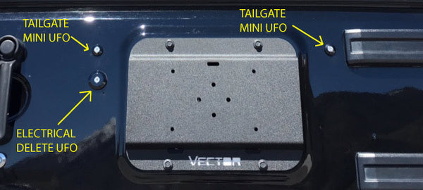 UFO, Tailgate Electrical Pass Through Delete
