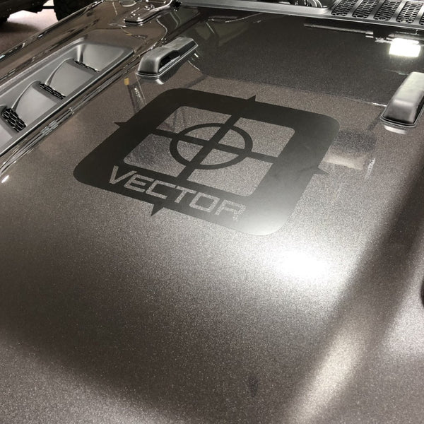 Vector Off Road Hood Decal in Satin Black
