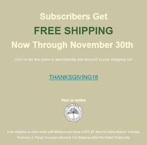 Get Exclusive Offers by Subscribing Today! Hurry, this one is almost over!