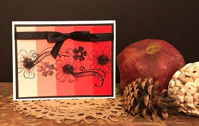 FIG TREE Beautiful Handmade Cards - Red & Black - You are a blessing in my life