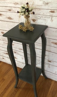 FIG TREE Elegant Side Table ~ Rustic Gray