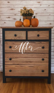 FIG TREE Two-Toned Black & Stained Dresser