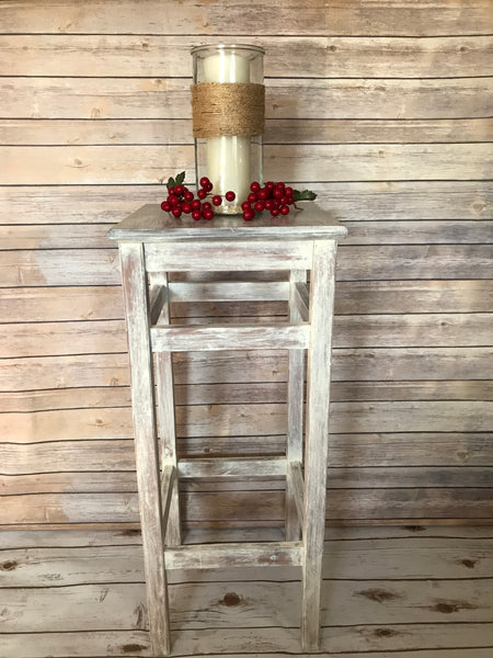 White Washed Side Table - FIG TREE ~Treasures for the Heart & Home~™