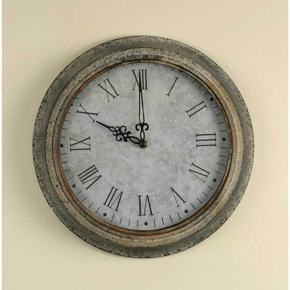 Rustic Galvanized Clock - FIG TREE ~Treasures for the Heart & Home~™
