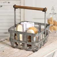 Salisbury Basket with Wood handle - FIG TREE ~Treasures for the Heart & Home~™