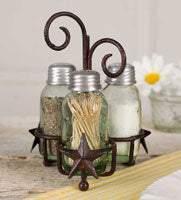 Star Salt Pepper and Toothpick Caddy - FIG TREE ~Treasures for the Heart & Home~™