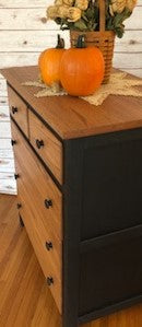 Two-Toned Black & Stained Dresser - FIG TREE ~Treasures for the Heart & Home~™