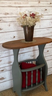 Small Farmhouse Side Table ~ Gray & Stain - FIG TREE ~Treasures for the Heart & Home~™