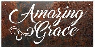 "RUSTIC METAL ""AMAZING GRACE"" SIGN - FIG TREE ~Treasures for the Heart & Home~™"