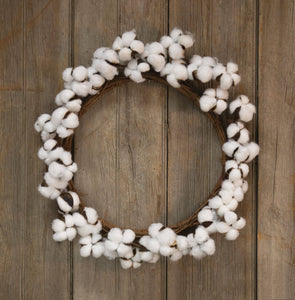 "17"" Cotton Wreath - FIG TREE ~Treasures for the Heart & Home~™"