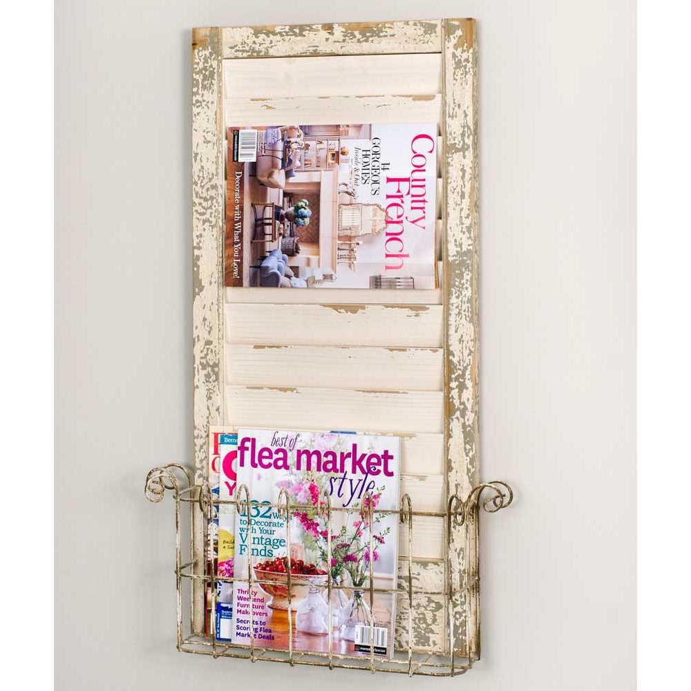 Rustic Shutter Magazine Rack - FIG TREE ~Treasures for the Heart & Home~™