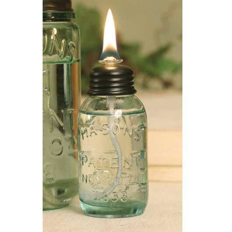 Miniature Mason Jar Oil Lamp - FIG TREE ~Treasures for the Heart & Home~™
