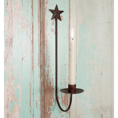 Rustic Star Wall Sconce - FIG TREE ~Treasures for the Heart & Home~™