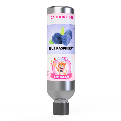 Blue Raspberry Lip Balm Flavor and Tube Combo