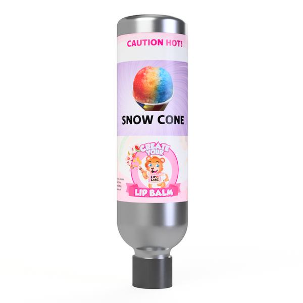 Snow Cone Lip Balm Flavor and Tube Combo