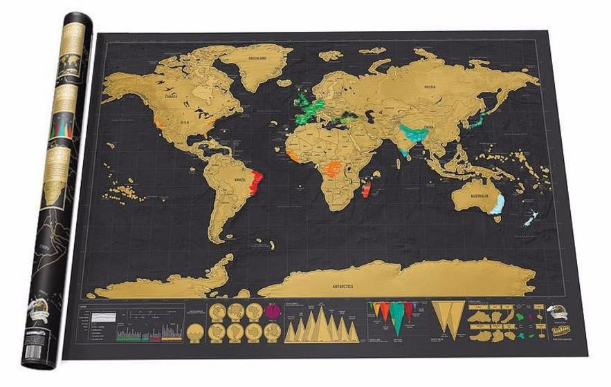 Premium travel scratch off world map black and gold travel is my premium travel scratch off world map black and gold gumiabroncs Gallery