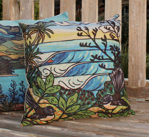 NZ Summer Surf Cushion Cover