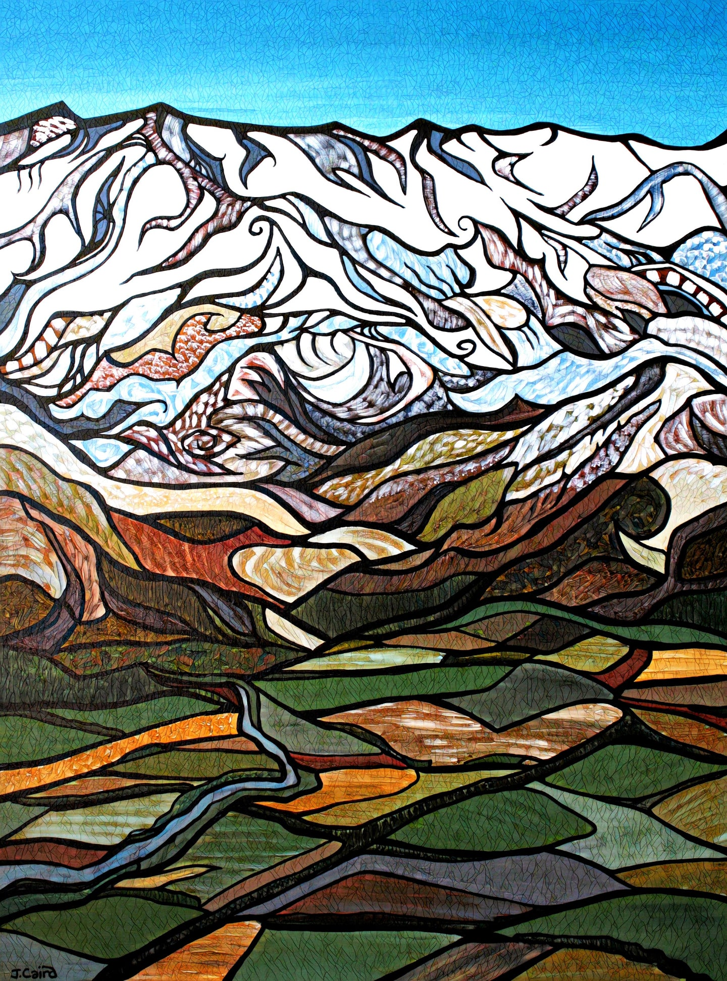 Sothern Alps Limited Edition Art Print