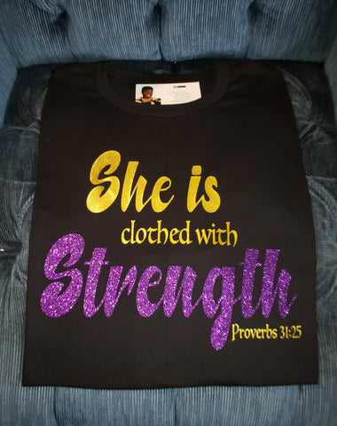 Clothed With Strength Tee